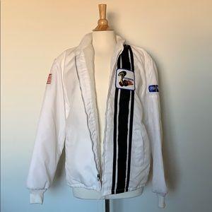 Vintage Jackets & Coats - VINTAGE FORD COBRA SHELBY racing nylon jacket M